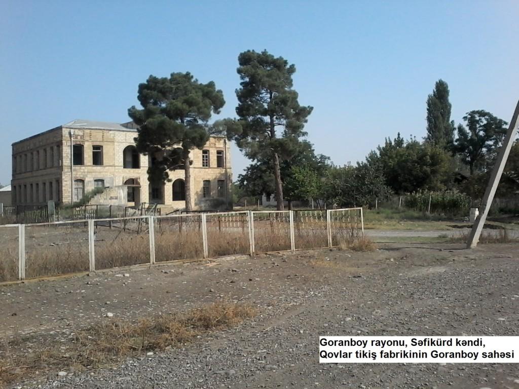 Qovlar tikiş fabrikinin Goranboy sahəsi
